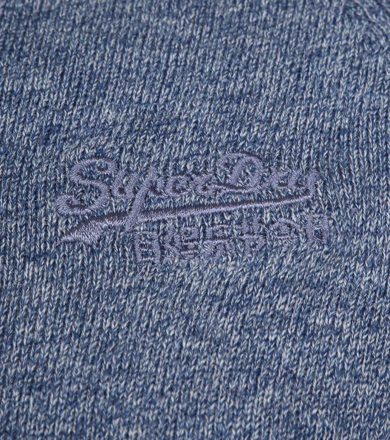 Superdry Pullover OL Cotton Crew Blauw foto 2