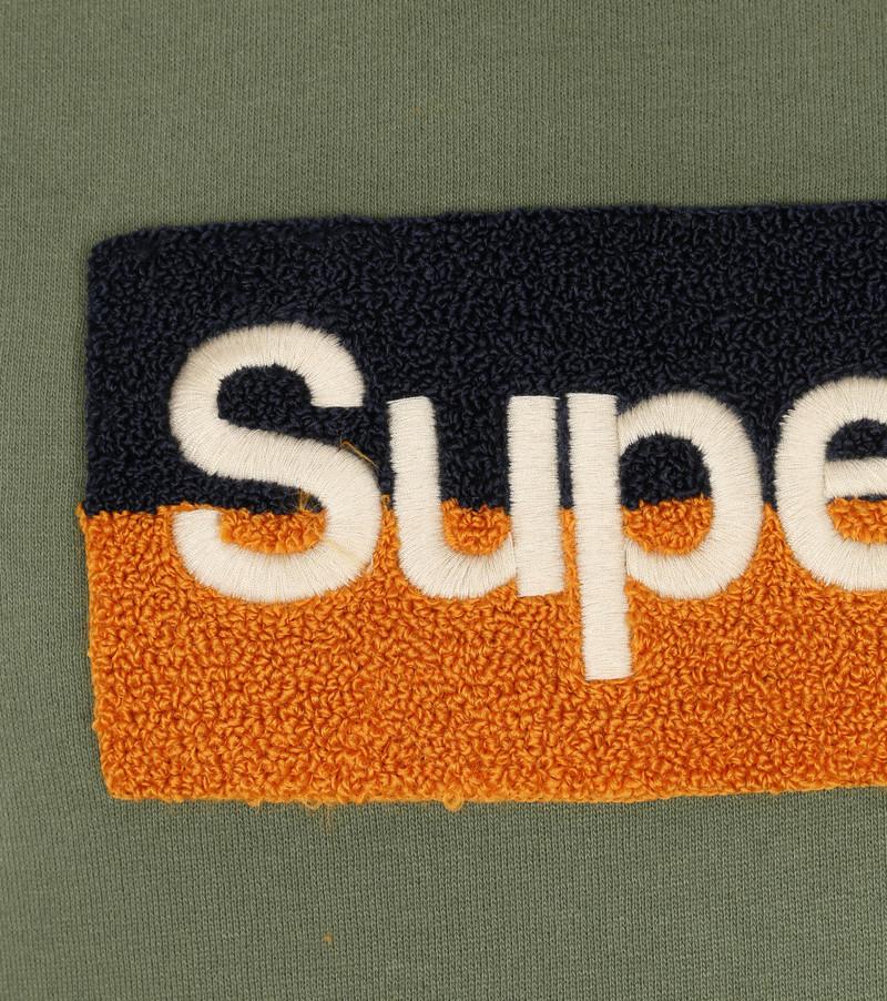 Superdry Trui Workwear Donkergroen - Groen maat XL