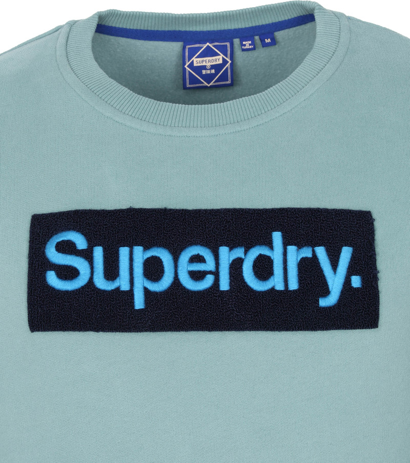Superdry Trui Workwear Lichtblauw - Blauw maat M