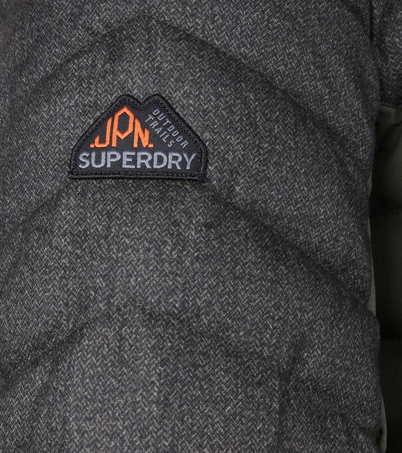 Superdry Tweed Mix Fuji Donkergroen foto 4