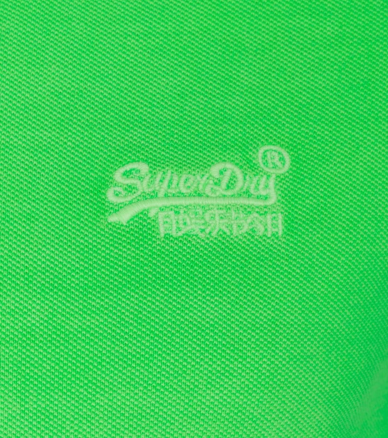 Superdry Vintage Destroyed Polo Neon Groen foto 1