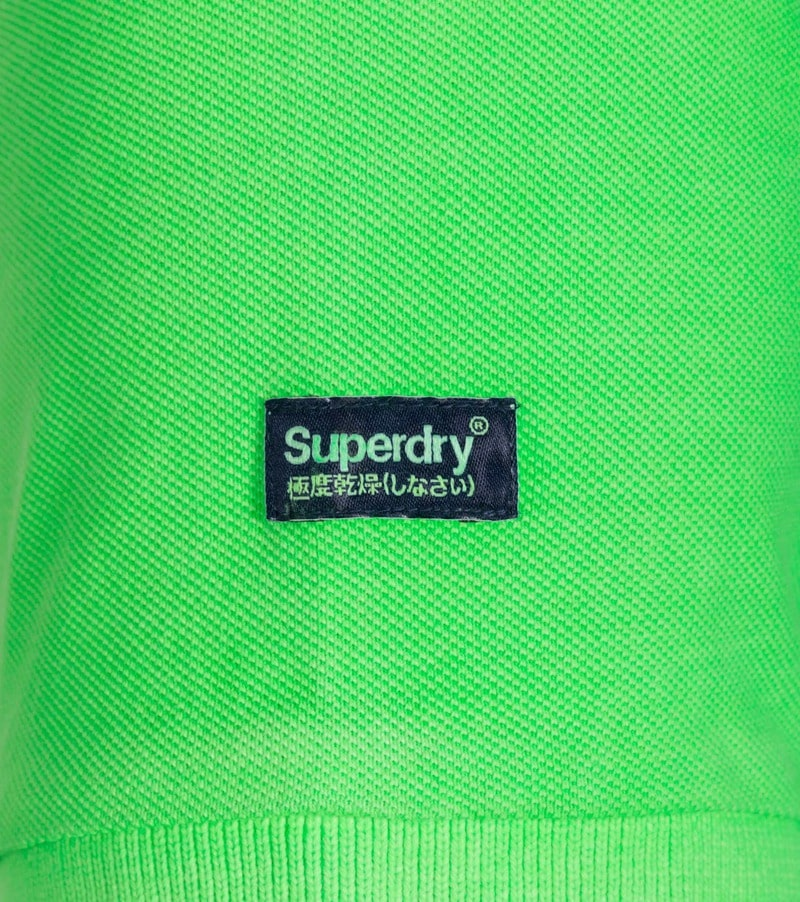 Superdry Vintage Destroyed Polo Neon Groen foto 2