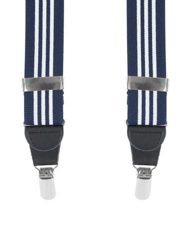 Suspenders Navy White Striped photo 0