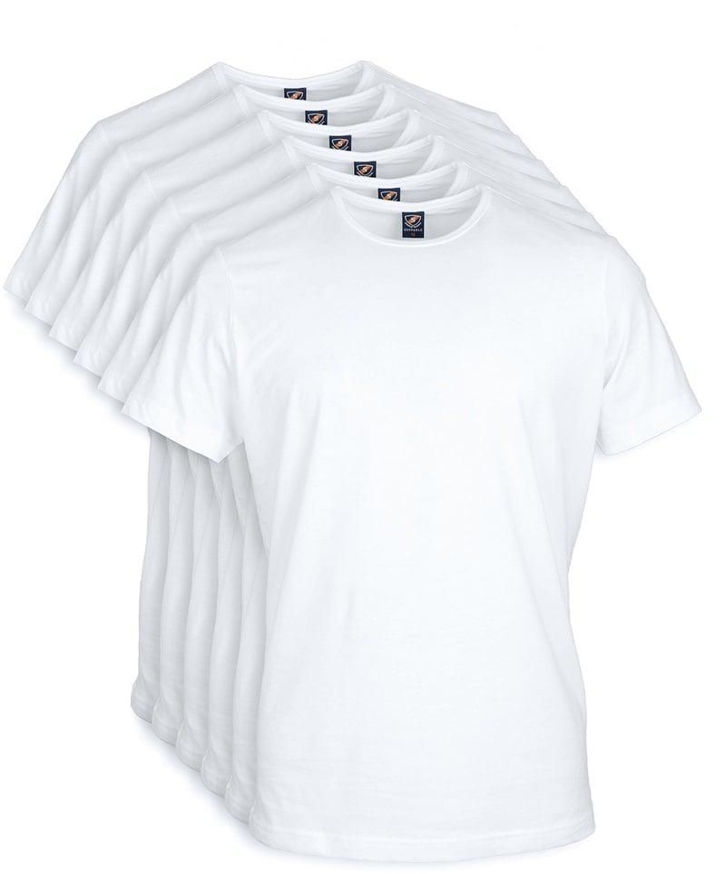 T-Shirt Rund Hals 6-Pack (6 Stück) Weiß