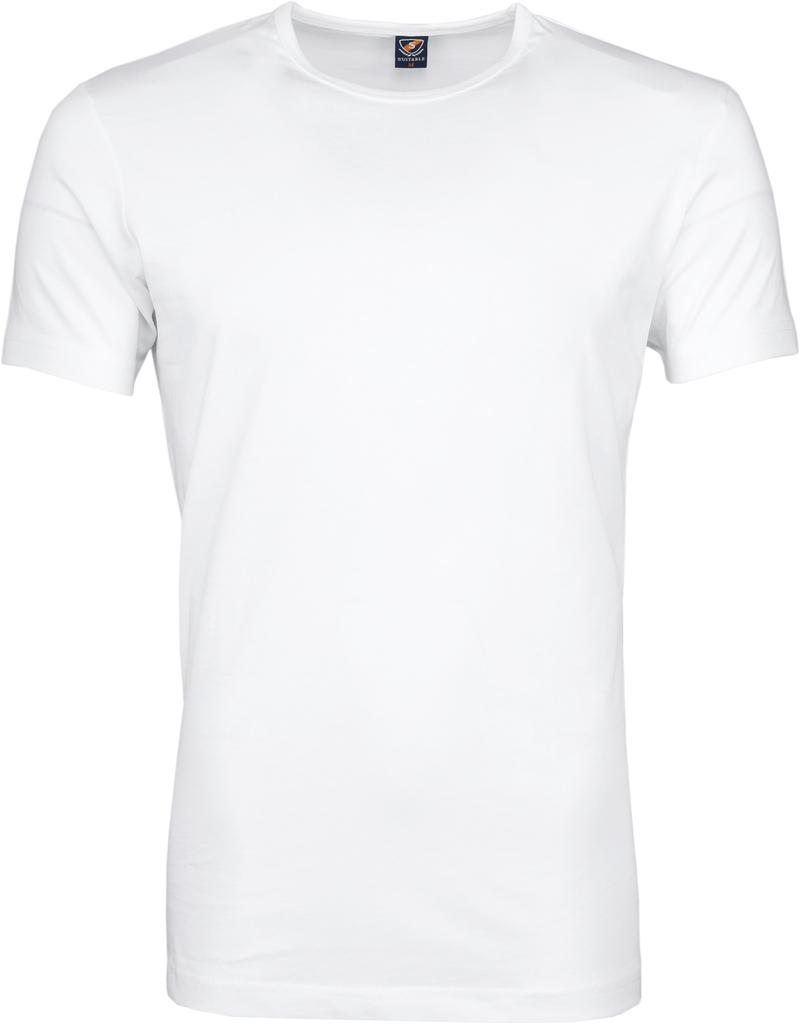 T-Shirt Rund Hals 6-Pack (6 Stück) Weiß Foto 2