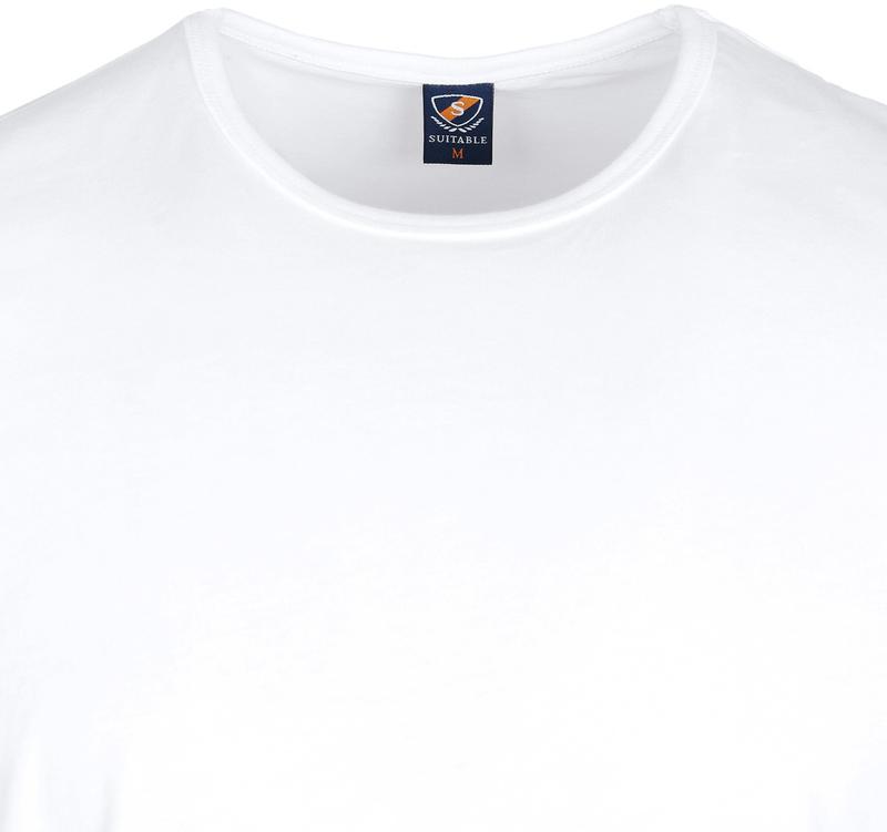 T-Shirt Rund Hals 6er Pack Weiß Foto 3