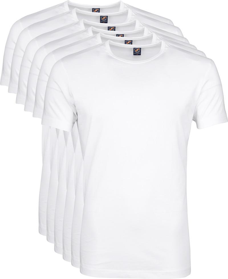 T-Shirt Rund Hals 6er Pack Weiß Foto 6