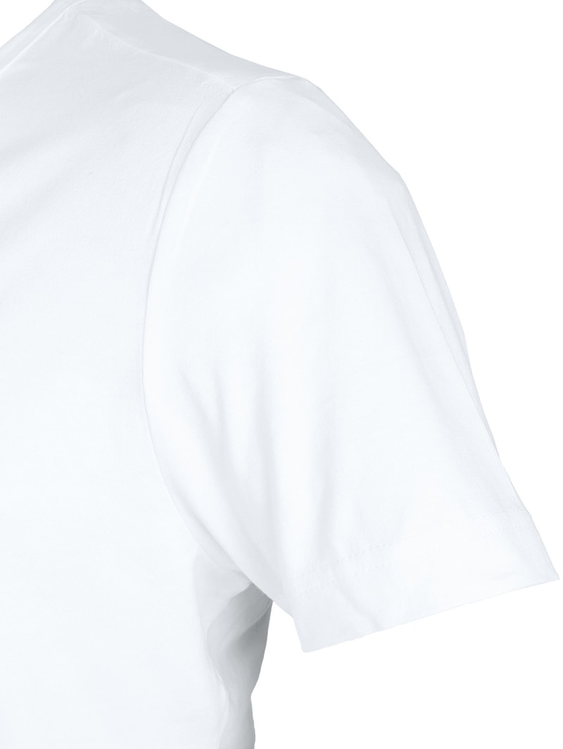 T-Shirt Tiefer V-Ausschnitt 4er Pack Stretch Weiß Foto 3