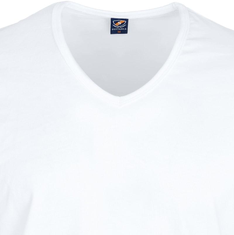 T-Shirt V-Ausschnitt 6er Pack Weiß Foto 2
