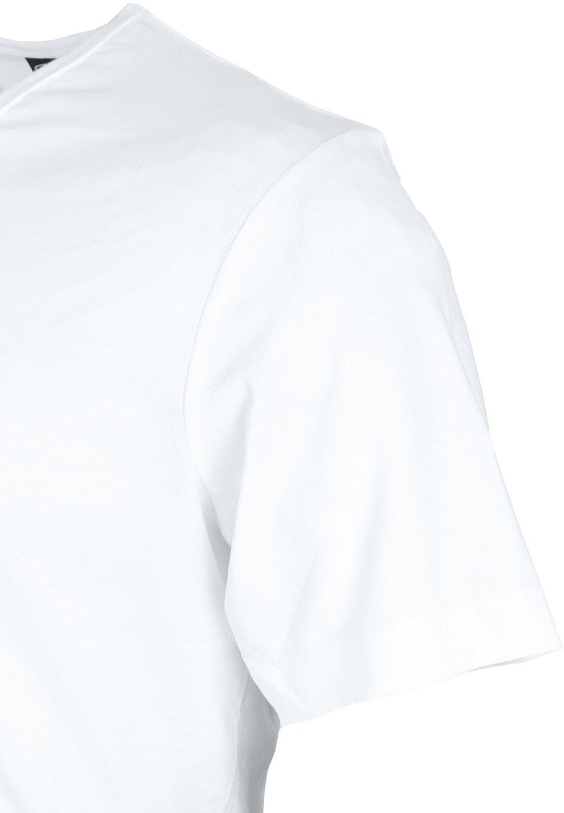 T-Shirt V-Ausschnitt 6er Pack Weiß Foto 3