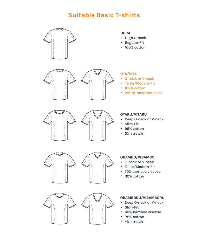 T-Shirt V-Ausschnitt 6er Pack Weiß Foto 6