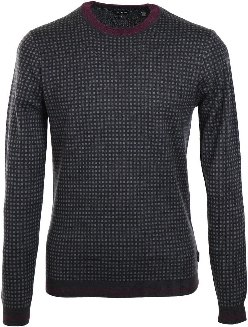 Ted Baker Parvine Pullover Donkergrijs  online bestellen | Suitable