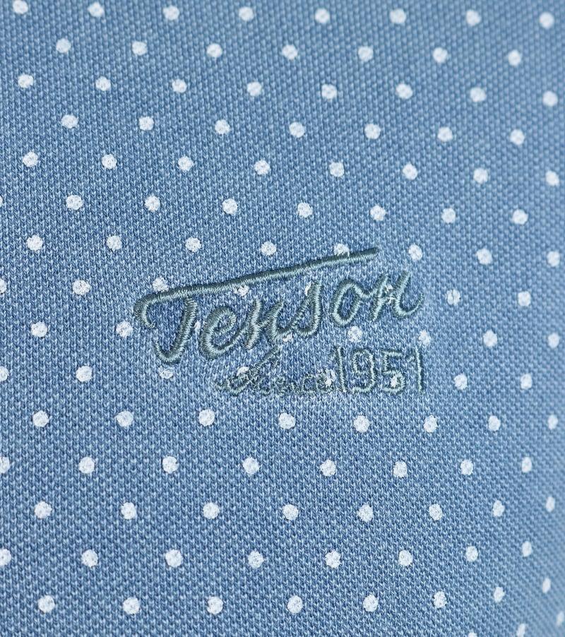 Detail Tenson Milton Polo Blauw Stippen