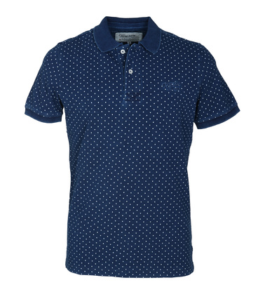 Detail Tenson Milton Polo Navy Stippen