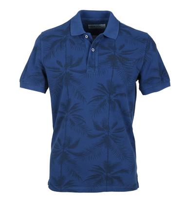 Detail Tenson Polo Palmboom Blauw