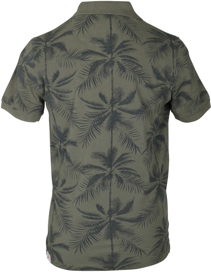 Detail Tenson Polo Palmboom Groen