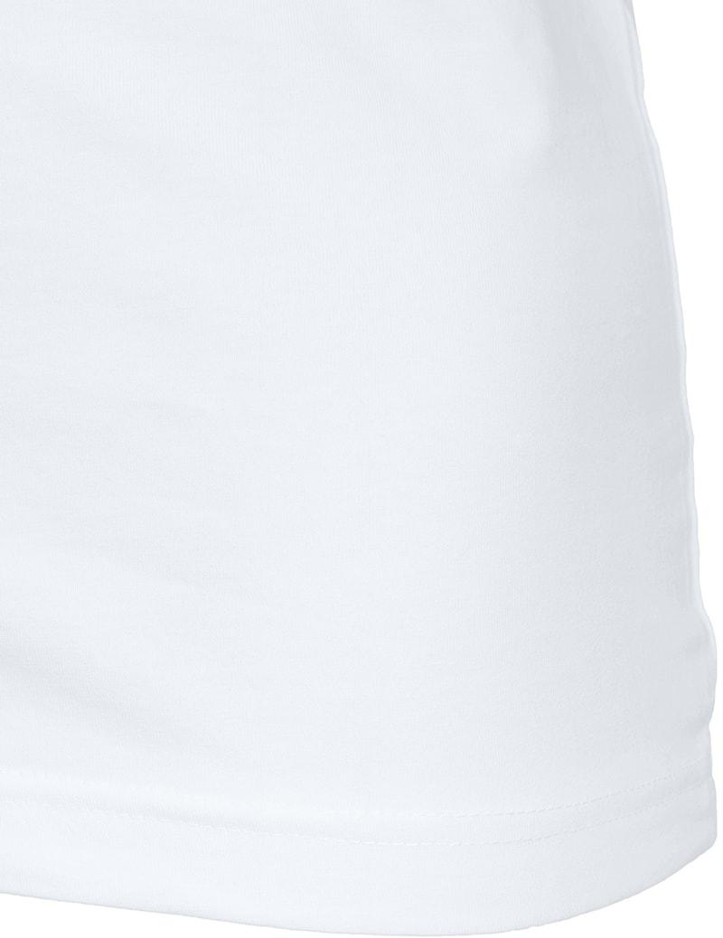 Tiefer V-Ausschnitt 2er Pack Stretch T-Shirt Weiß Foto 4