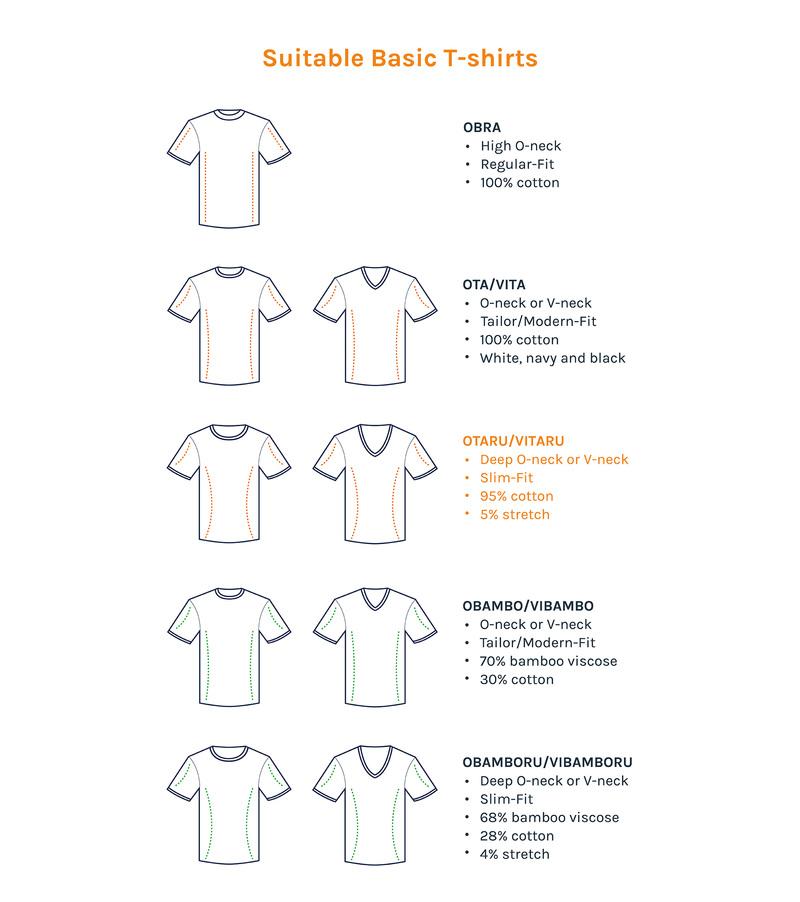 Tiefer V-Ausschnitt 2er Pack Stretch T-Shirt Weiß