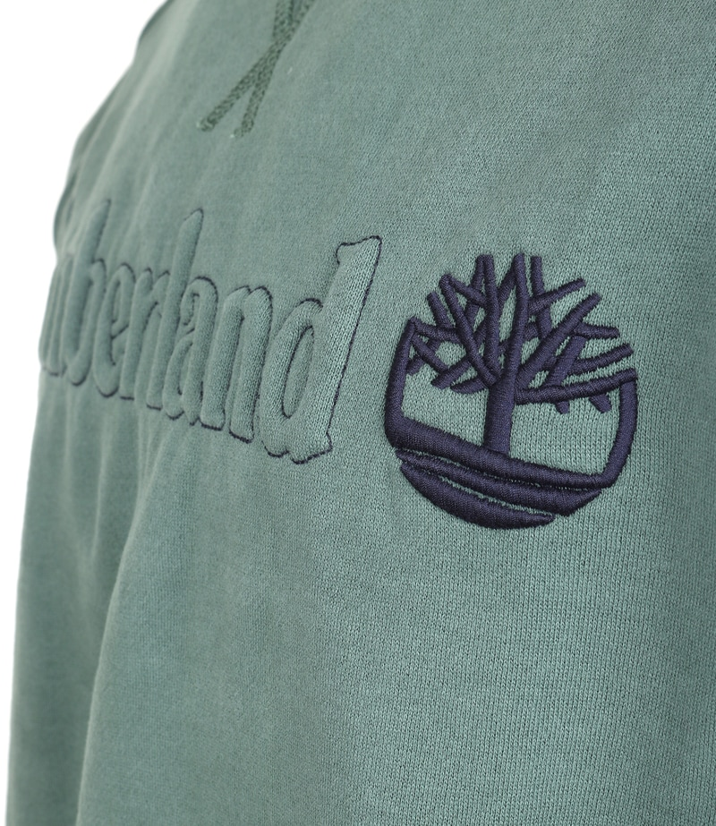 Detail Timberland Sweater Groen Raglan