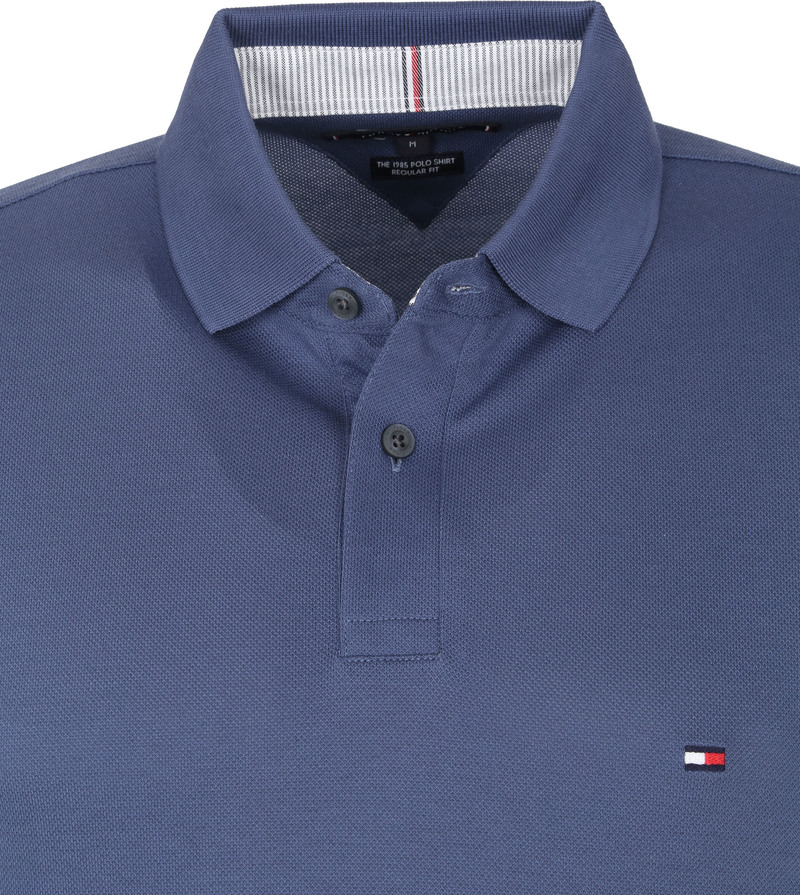 Tommy Hilfiger 1985 Poloshirt Indigo Blauw - Donkerblauw maat L