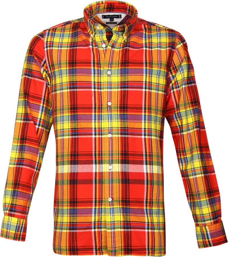 $0 Free Ship Tommy Hilfiger Men/'s Long Sleeve Classic Fit Plaid Casual Shirt