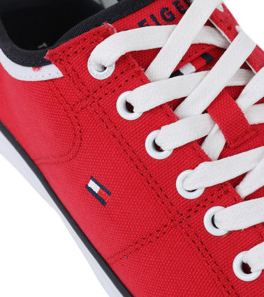 Tommy Hilfiger Core Corporate Sneaker Rood foto 1