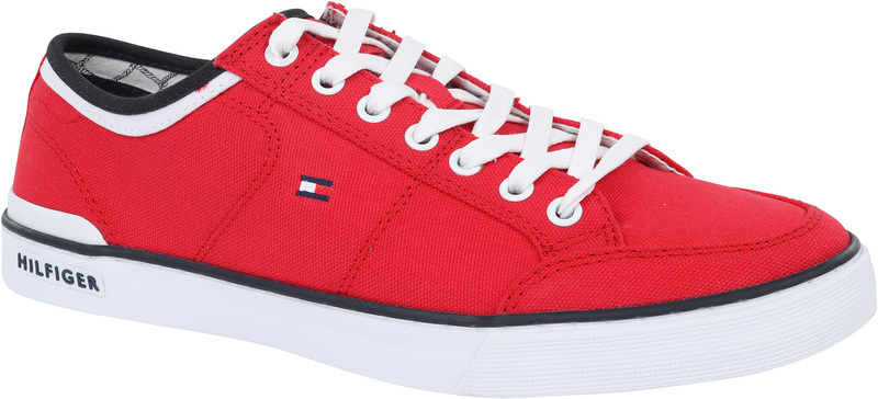 Tommy Hilfiger Core Corporate Sneaker Rood foto 0