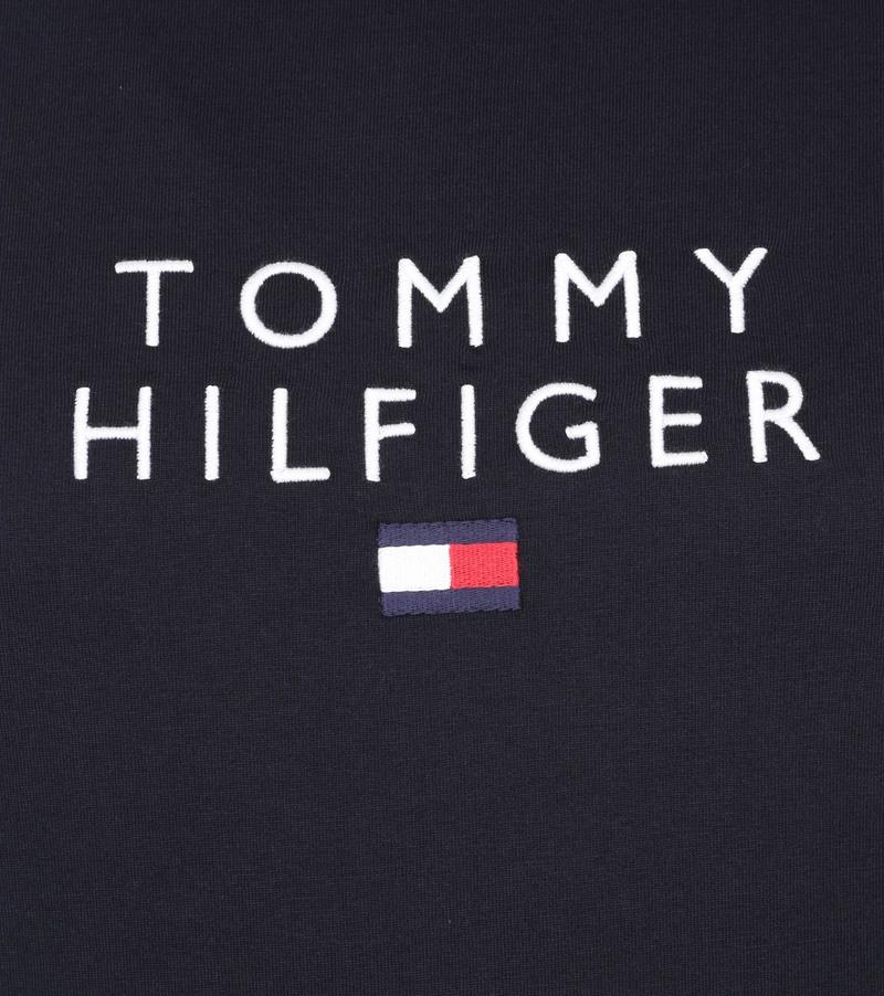 Tommy Hilfiger Logo Flag T-shirt Donkerblauw - Donkerblauw maat S