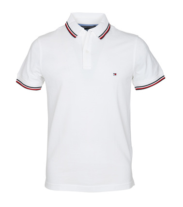 Tommy Hilfiger Polo Uni Weiß  online kaufen | Suitable