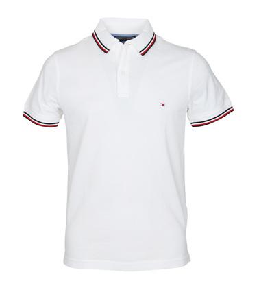 Tommy Hilfiger Polo Uni Wit  online bestellen | Suitable