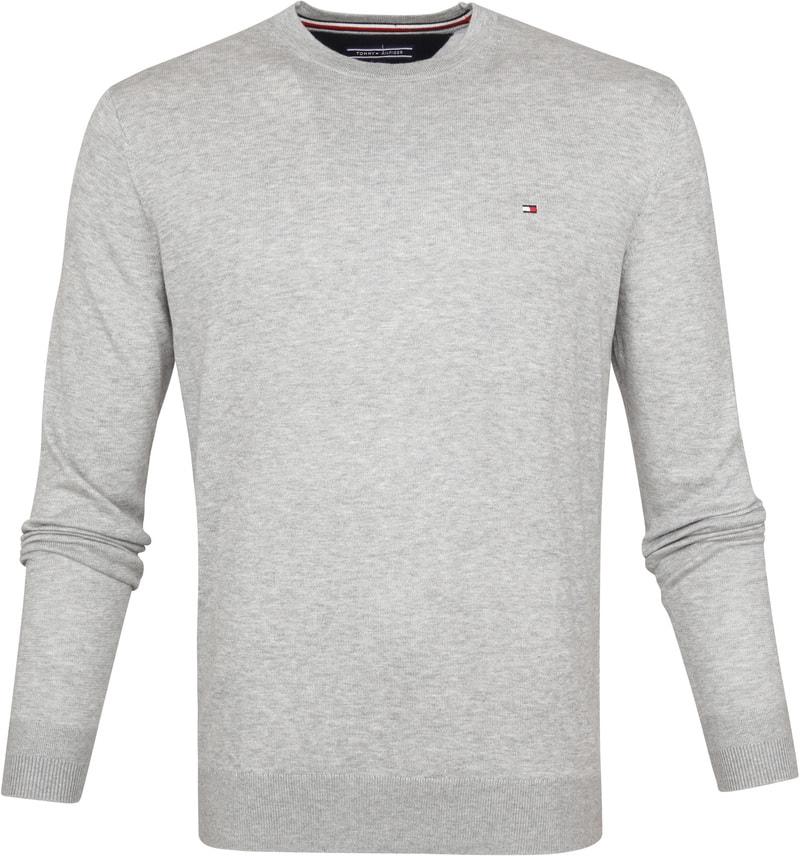 Tommy Hilfiger Pullover O-Hals Lichtgrijs