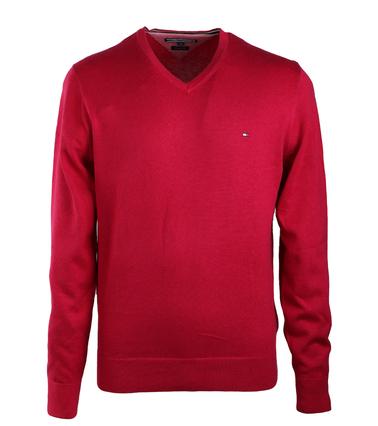 Tommy Hilfiger Pullover V-Hals Fuchsia  online bestellen | Suitable