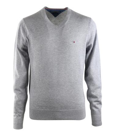 Tommy Hilfiger Pullover V-Hals Grijs  online bestellen | Suitable