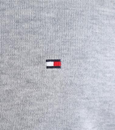 Detail Tommy Hilfiger Pullover V-Hals Grijs