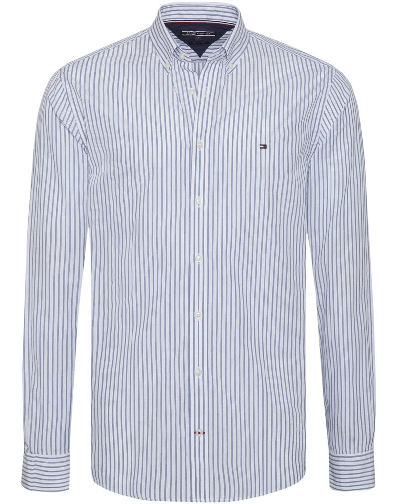 Tommy Hilfiger Shirt Jaspe Stripes Blue