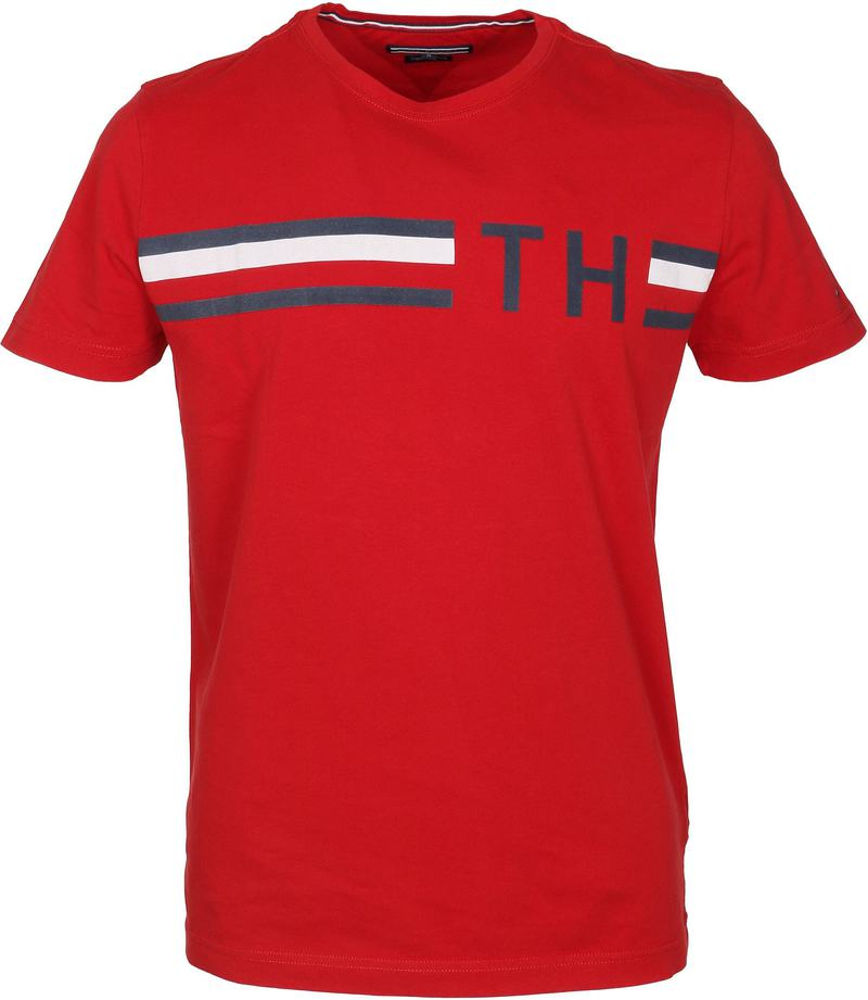 Tommy Hilfiger T-shirt TH Rot  online kaufen   Suitable