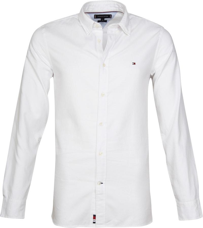 Tommy Hilfiger THFlex Hemd Weiß MW0MW10720 Bright White
