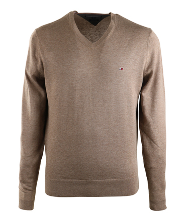 Tommy Hilfiger V-Hals Pullover Bruin  online bestellen | Suitable