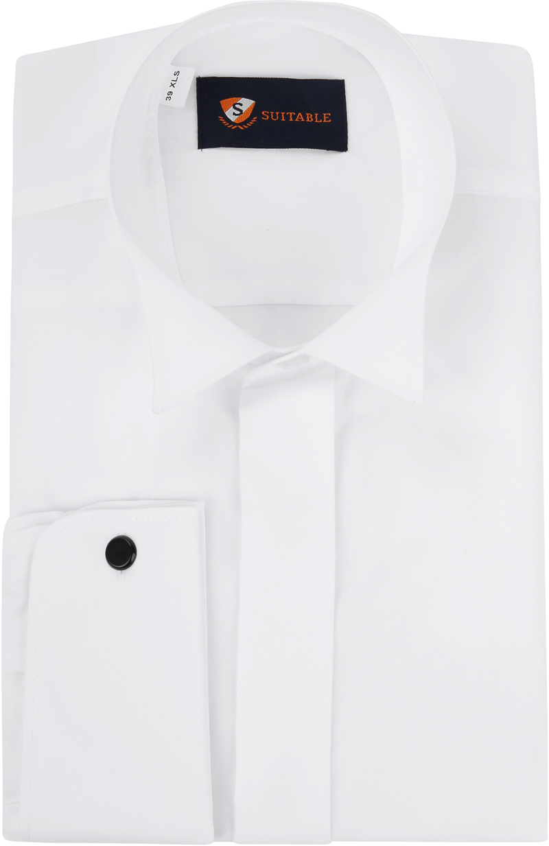 Tuxedo Shirt High Collar White photo 0
