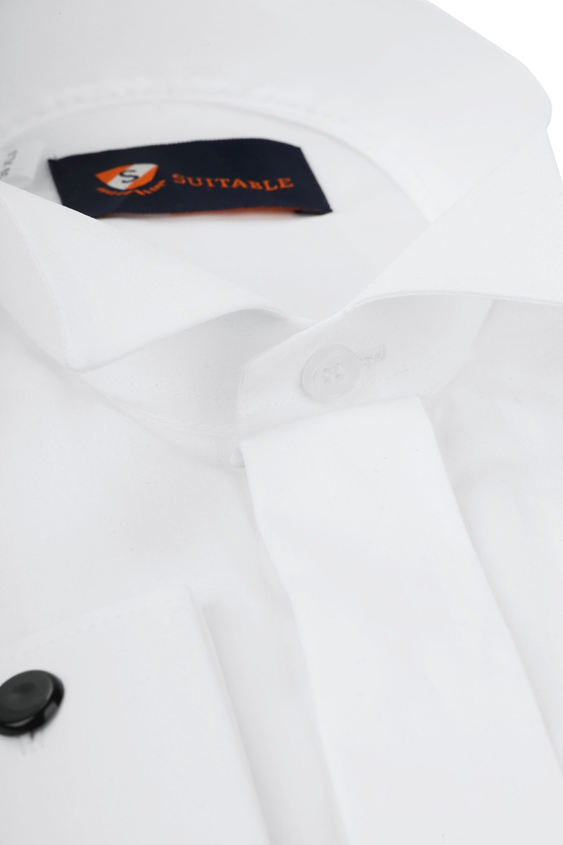 Tuxedo Shirt High Collar White photo 1