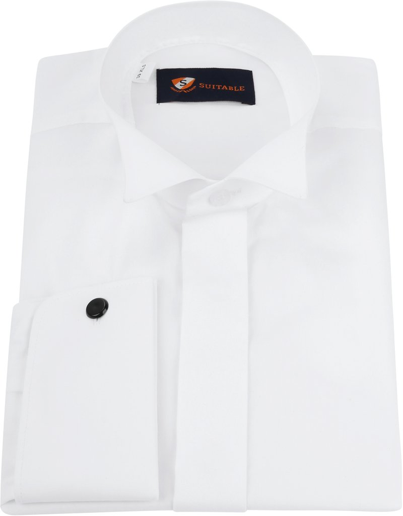 Tuxedo Shirt High Collar White photo 2