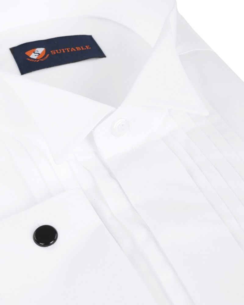 Tuxedo Shirt Pleated White photo 1