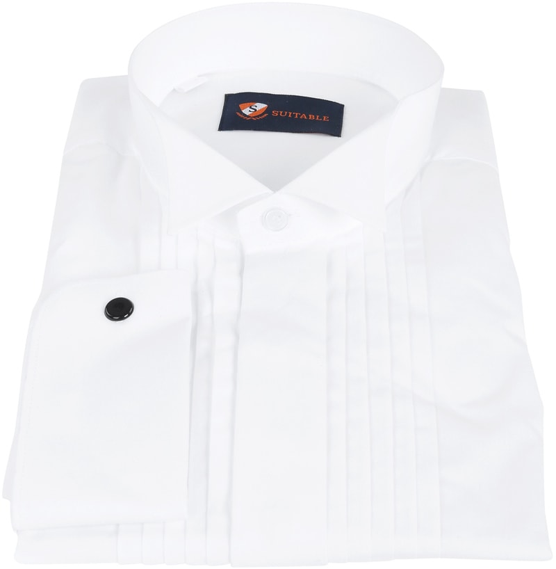 Tuxedo Shirt Pleated White photo 2