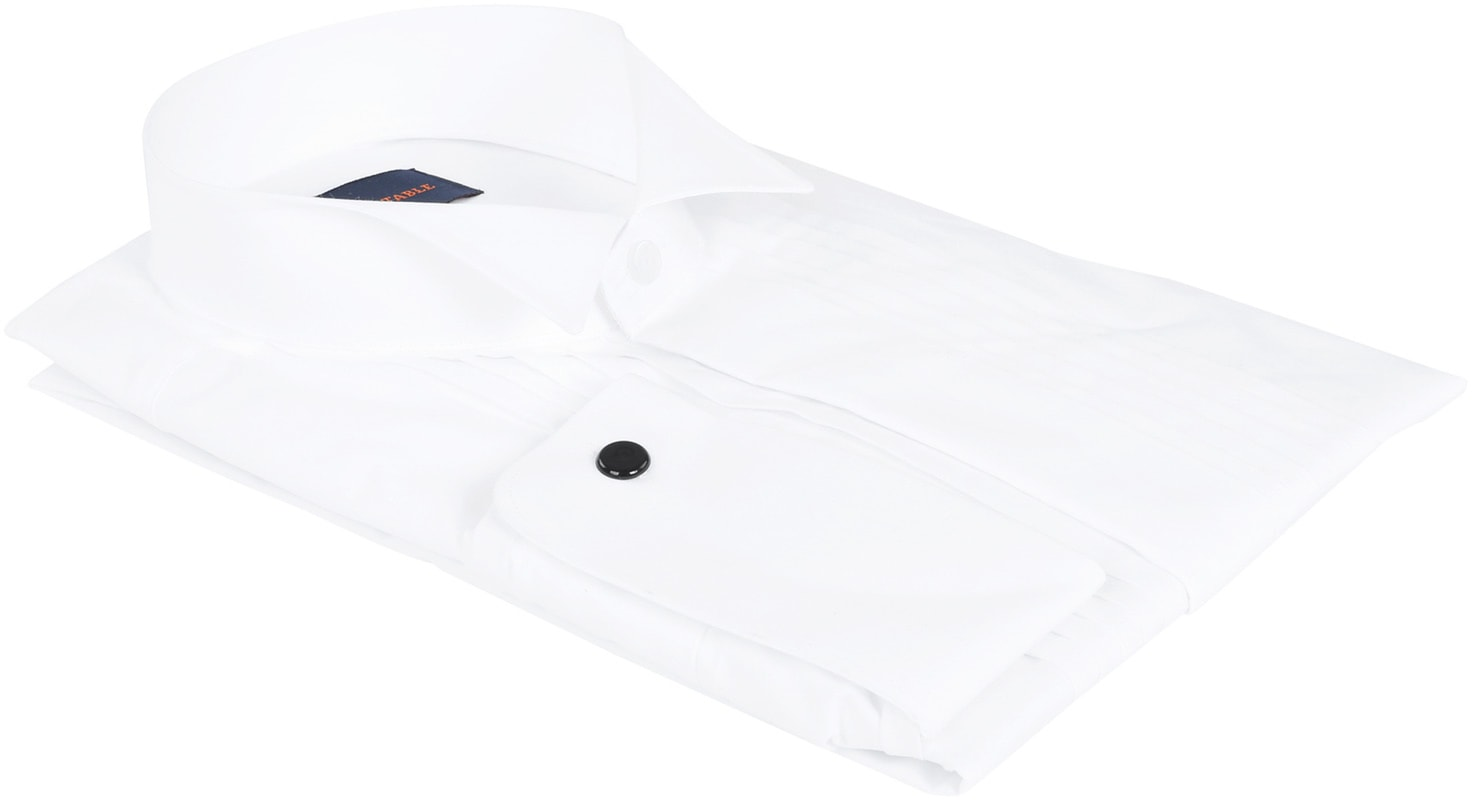 Tuxedo Shirt Pleated White photo 3