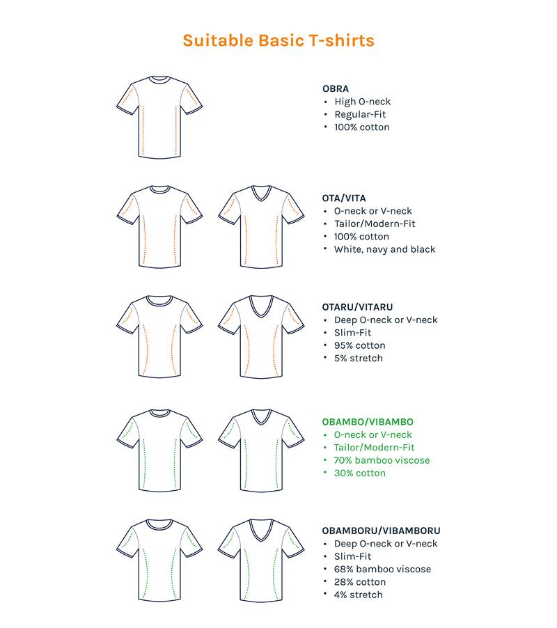V hals 6-Pack Bamboe T-Shirt foto 4