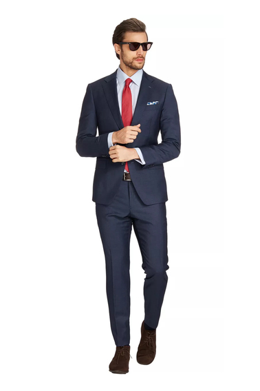 Van Gils Ellis Kostuum Donkerblauw  online bestellen | Suitable