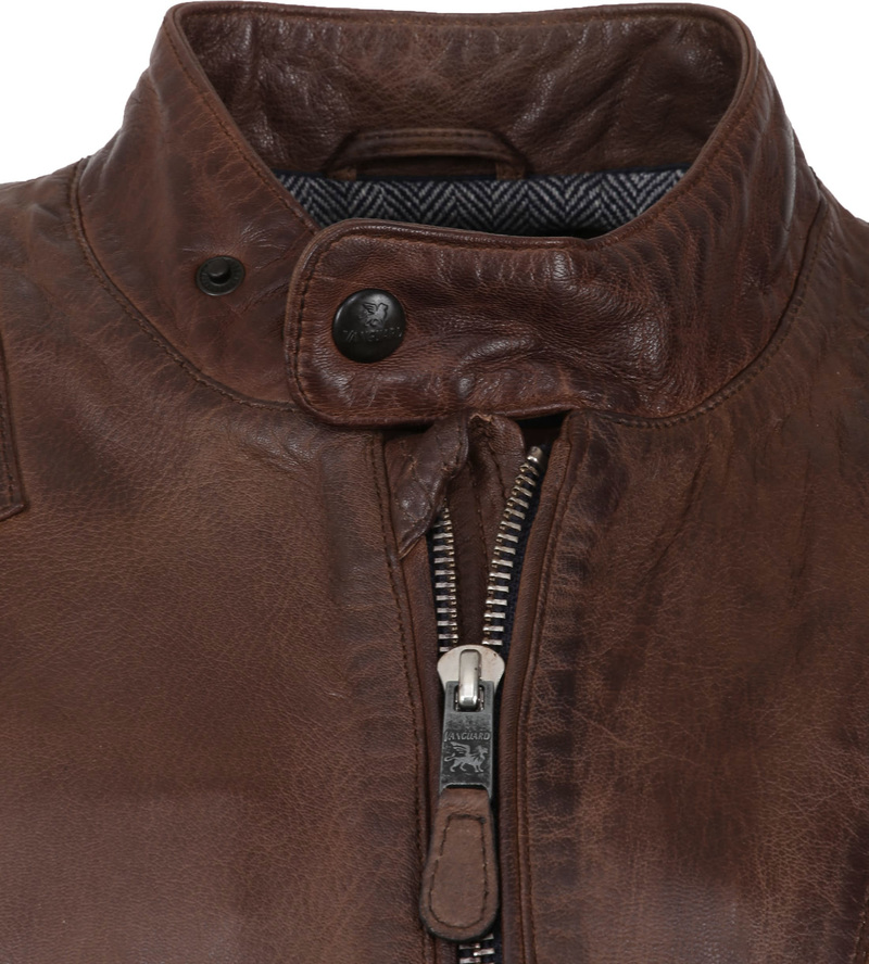 Vanguard Brakeride Leather Jacket Brown photo 1