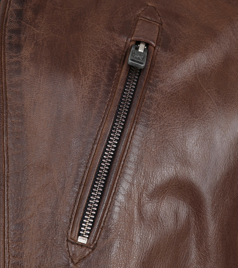 Vanguard Brakeride Leather Jacket Brown photo 2