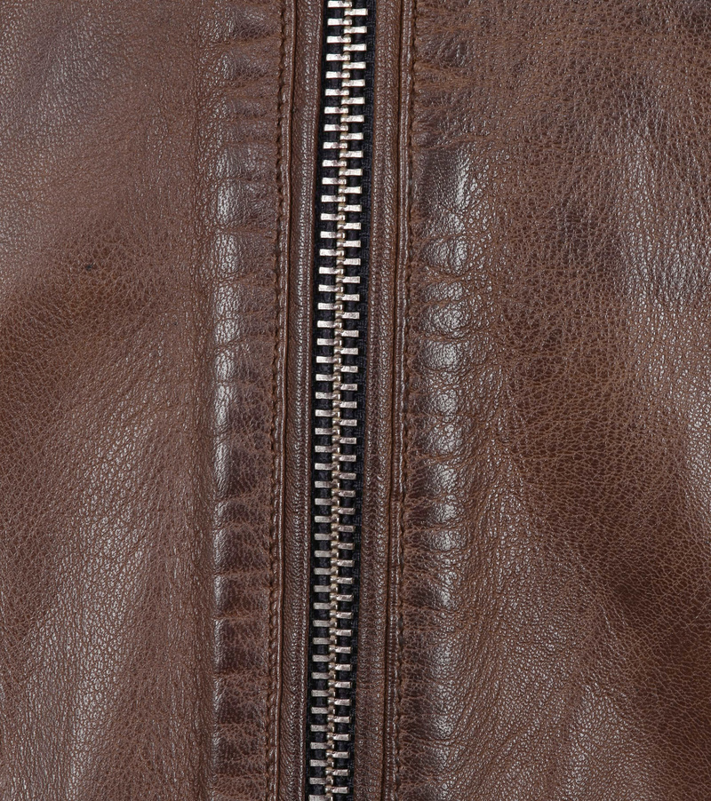 Vanguard Brakeride Leather Jacket Brown photo 3