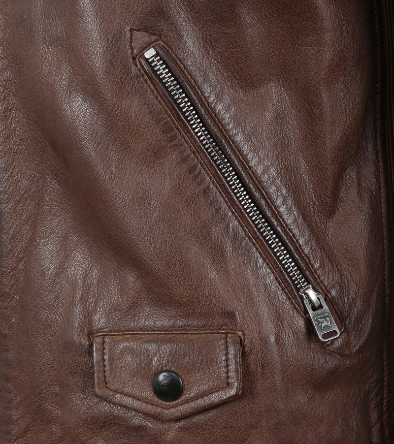 Vanguard Brakeride Leather Jacket Brown photo 4